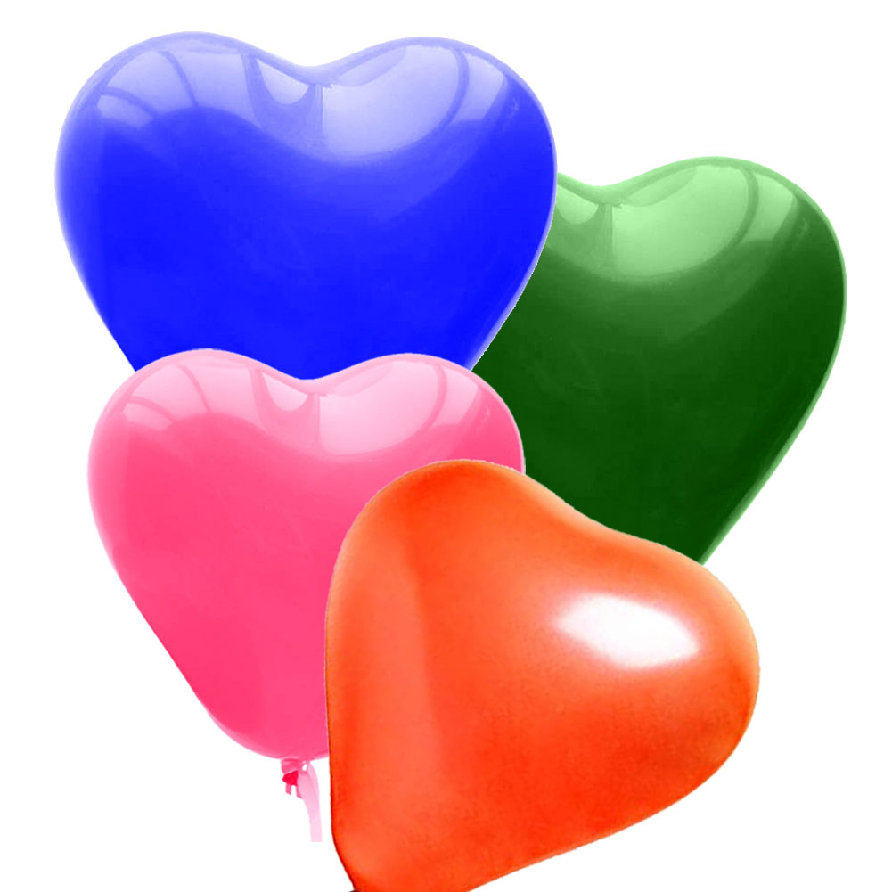 The Elixir Party Balloons Assorted Color 12 Inch 100 Pcs Latex Heart Balloon for Birthday Party Decoration