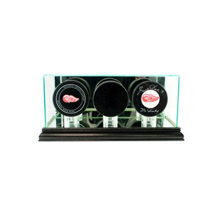 Perfect Cases and Frames Triple Hockey Puck Display Case (Hockey Frame)
