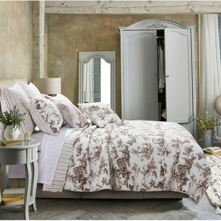 Classic Toile Quilt Set by Greenland Home (Toile Coverlet)
