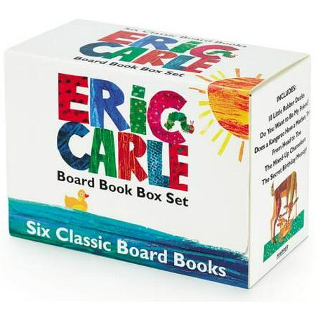 Eric Carle Six Classic Board Books Box Set - Eric Carle Illustrations