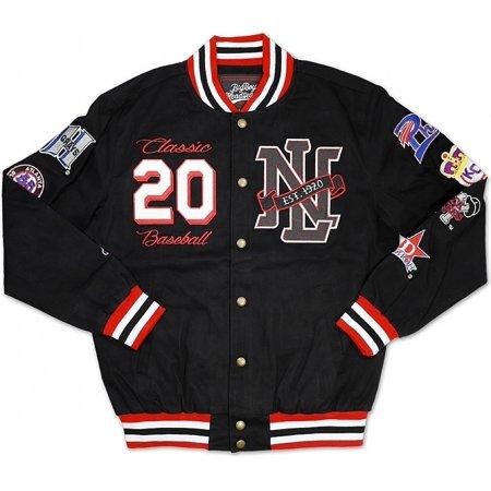 - Big Boy Negro League Baseball Commemorative S7 Mens Twill Racing Jacket [Black - XL]