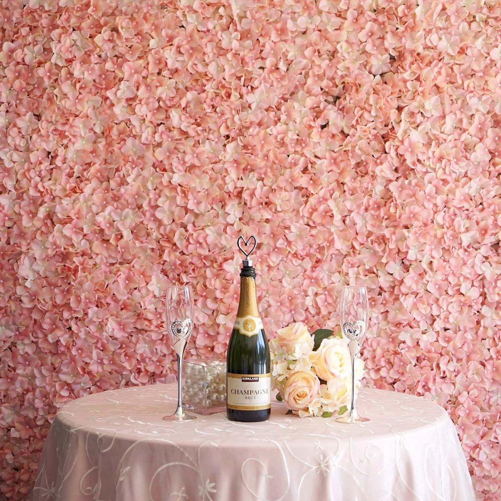 Efavormart 4 PCS  Silk Hydrangea Flower Mat Wall Wedding Event Decor for DIY Centerpieces Arrangements Party Home Decorations