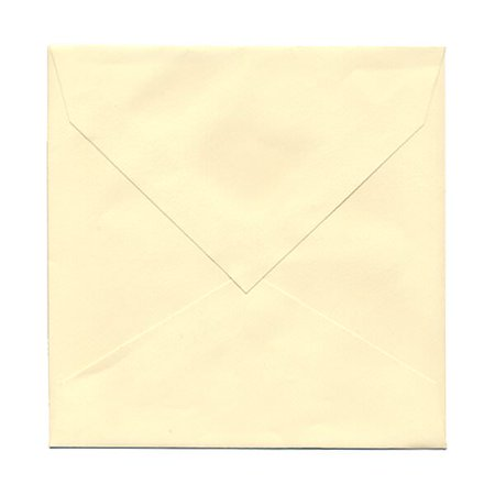 jam paper 7 5 x 7 5 square invitation envelope with v flap ivory