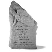 Kay Berry- Inc. 28920 I Did Not See You Close Your Eyes - Angel Memorial - 14.75 Inches x 8.5 Inches