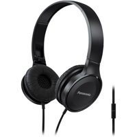 Panasonic RP-HF100M-K Panasonic Lightweight On-Ear Headphones With Microphone (Black)