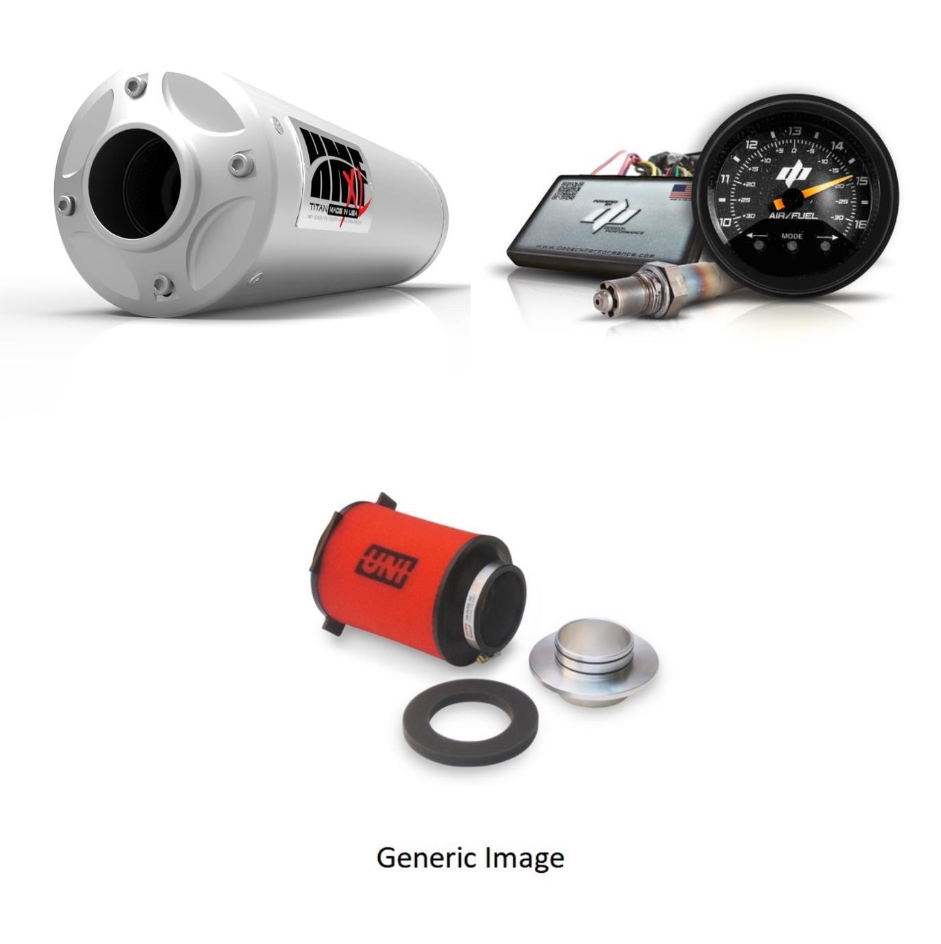 Foam Filter, AFR+ Fuel Controller & Stainless-Steel Titan-XL-Series Slip On Exhaust Billet for Yamaha YXZ 1000R 2016