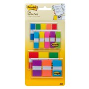 Post-it Flags Assorted Colors, 4 On-The-Go Dispensers/Pack, 320 flags