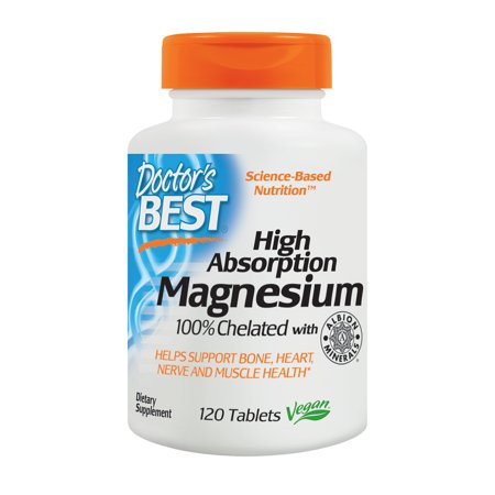 Touring Magnesium - Doctor's Best High Absorption Magnesium 200 mg, 120 Tablets