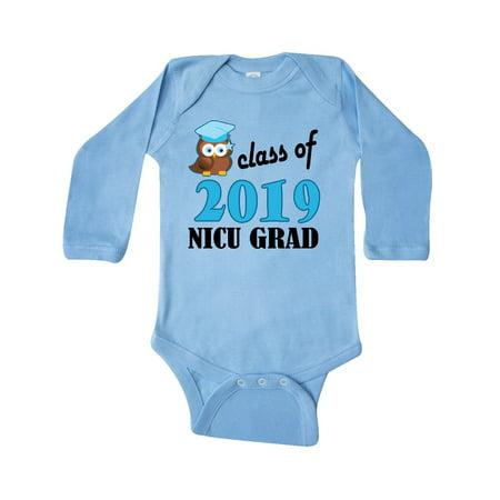 3f543a83b Inktastic - NICU Grad 2019 Baby Boy Owl Long Sleeve Creeper - Walmart.com