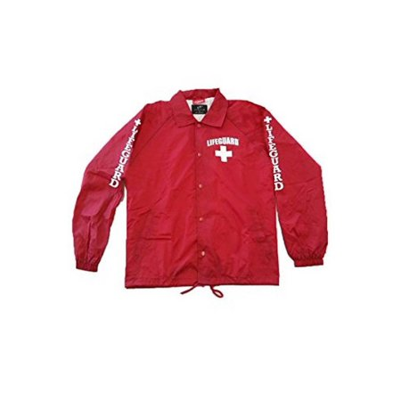 Nylon Mens Windbreaker - Lifeguard Windbreaker Jacket - Water and Wind Resistant 100% Nylon Ideal for Men, Teens, Girls.