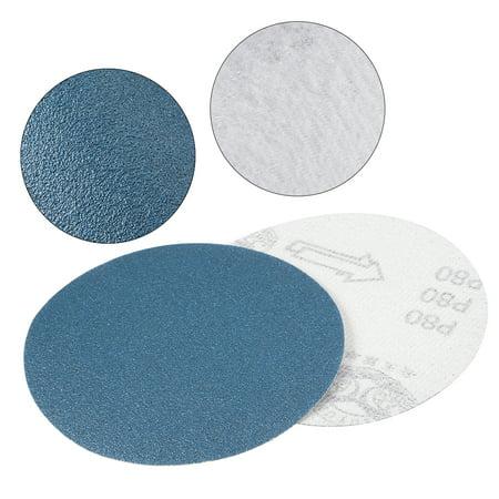 10Pcs 5 Inch Hook and Loop Sanding Disc 80 Grit Flocking Sander Paper Blue - image 2 of 4