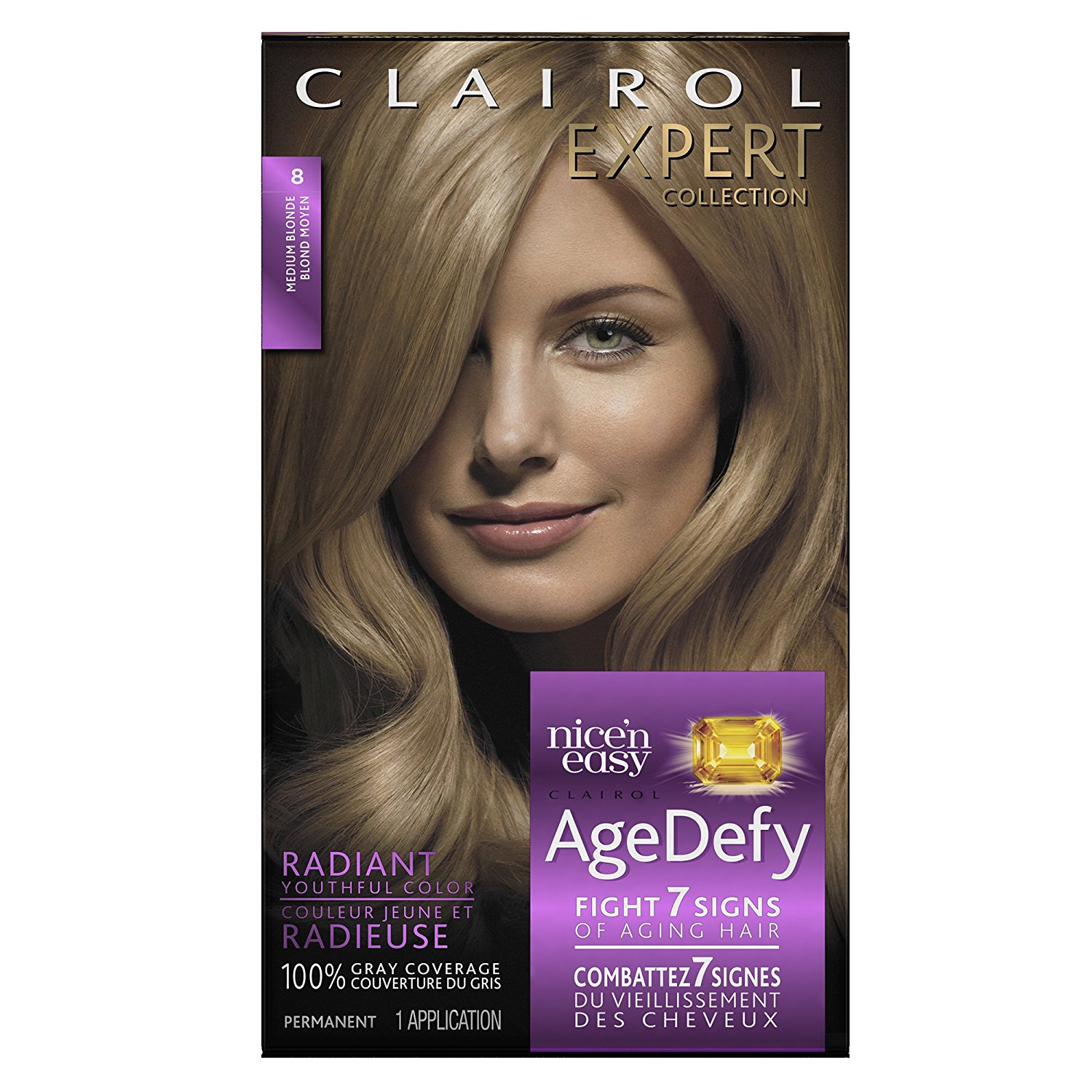 Age Defy Expert Collection 8 Medium Blonde Permanent Hair Color 1