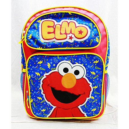 Elmo Bags (Backpack - Sesame Street - Elmo Red Large School Bag New)