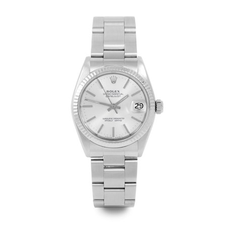 Pre Owned Rolex Datejust 6827 w/ Silver Stick Dial 31mm Women's Watch (Certified & Warranty Included)