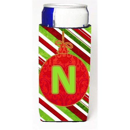 Christmas Ornament Holiday Monogram Initial Letter N Michelob Ultra s For Slim Cans - S Monogram