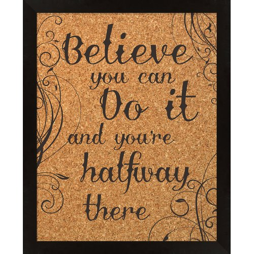 PTM Images Believe Wall Mounted Bulletin Board