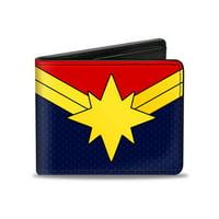 Marvel Comics Comic Book Captain Marvel Logo Bi-Fold Wallet
