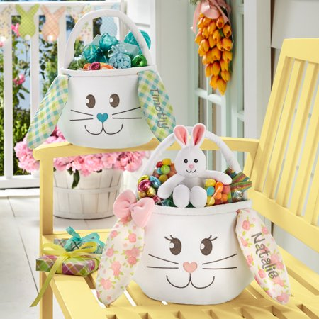 Personalized Sweet Easter Bunny Basket - Available in 2 Colors