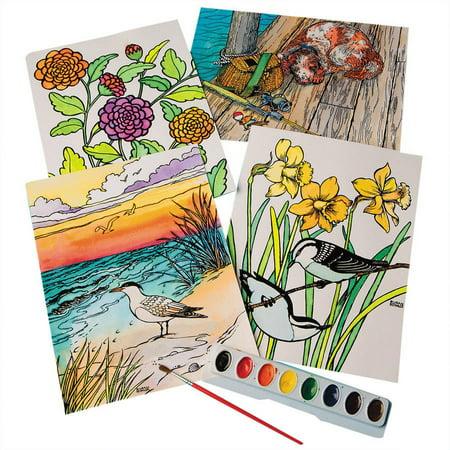 Watercolor Velvet Art Posters, Pack of 24 - Velvet Art Posters To Color