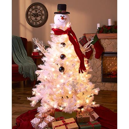 new style c9c2c d8f93 Frosty Snowman Head Tree Topper Christmas Holiday Festive Home Decor