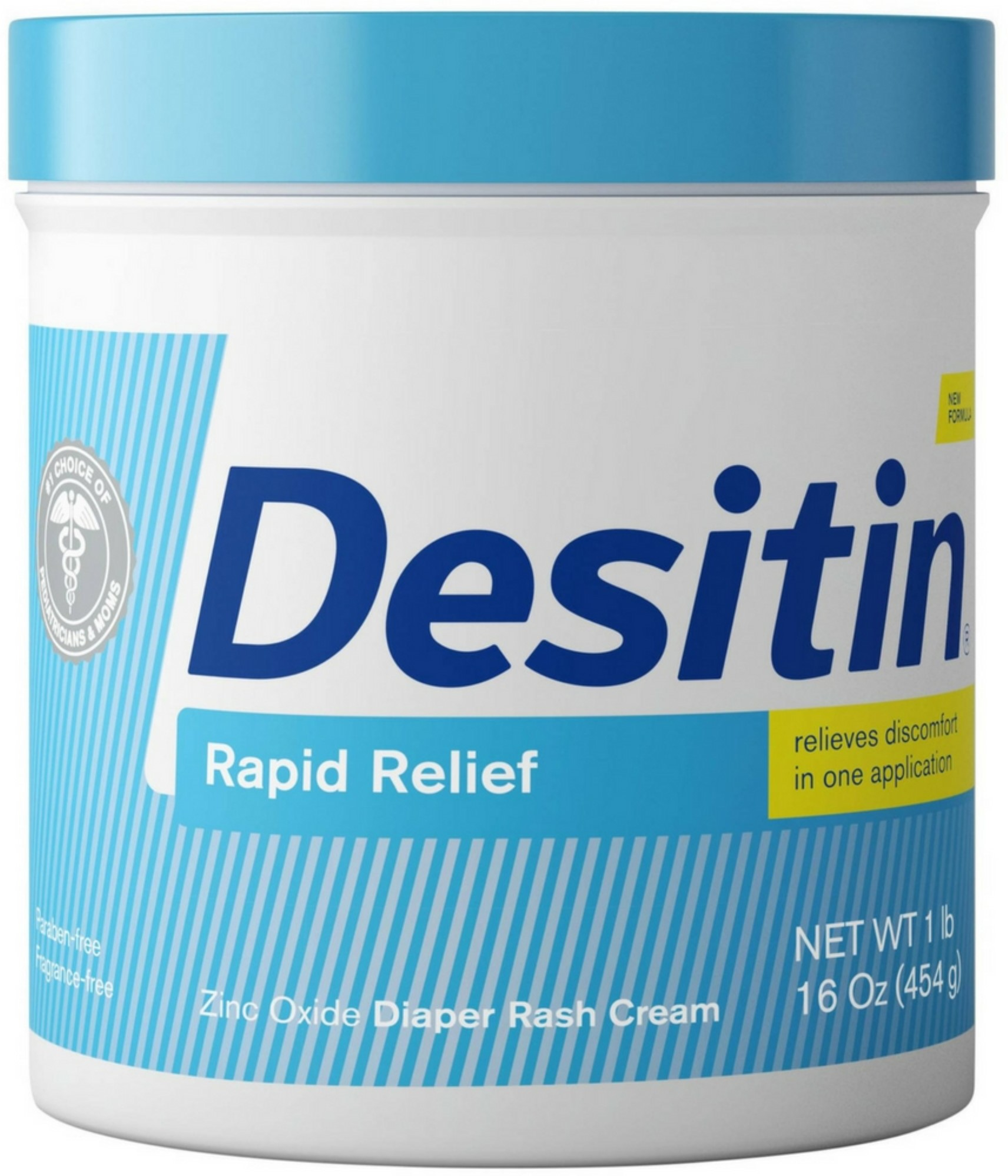 2 Pack DESITIN Rapid Relief Diaper Rash Cream 16 oz by Desitin