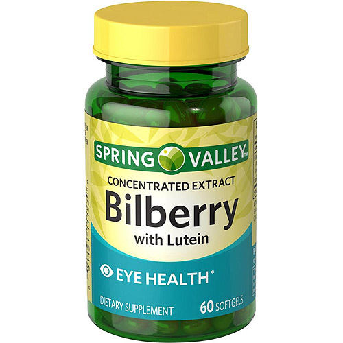 Spring Valley Bilberry with Lutein Softgels, 60 count