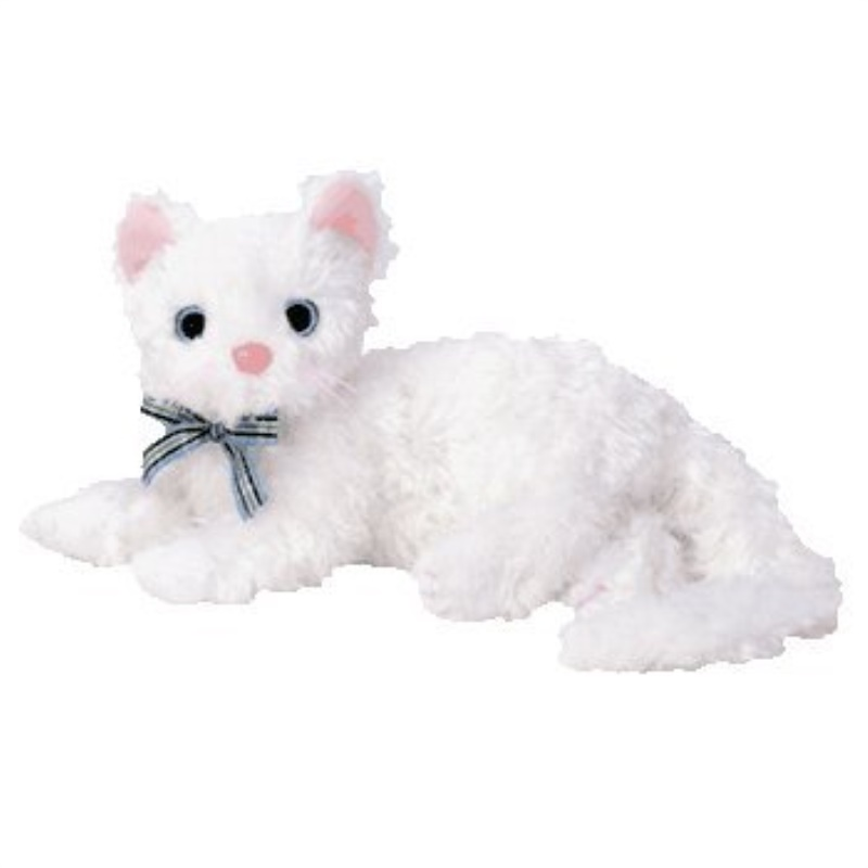 Ty Beanie Baby Starlett The White Cat Toy Walmart Com