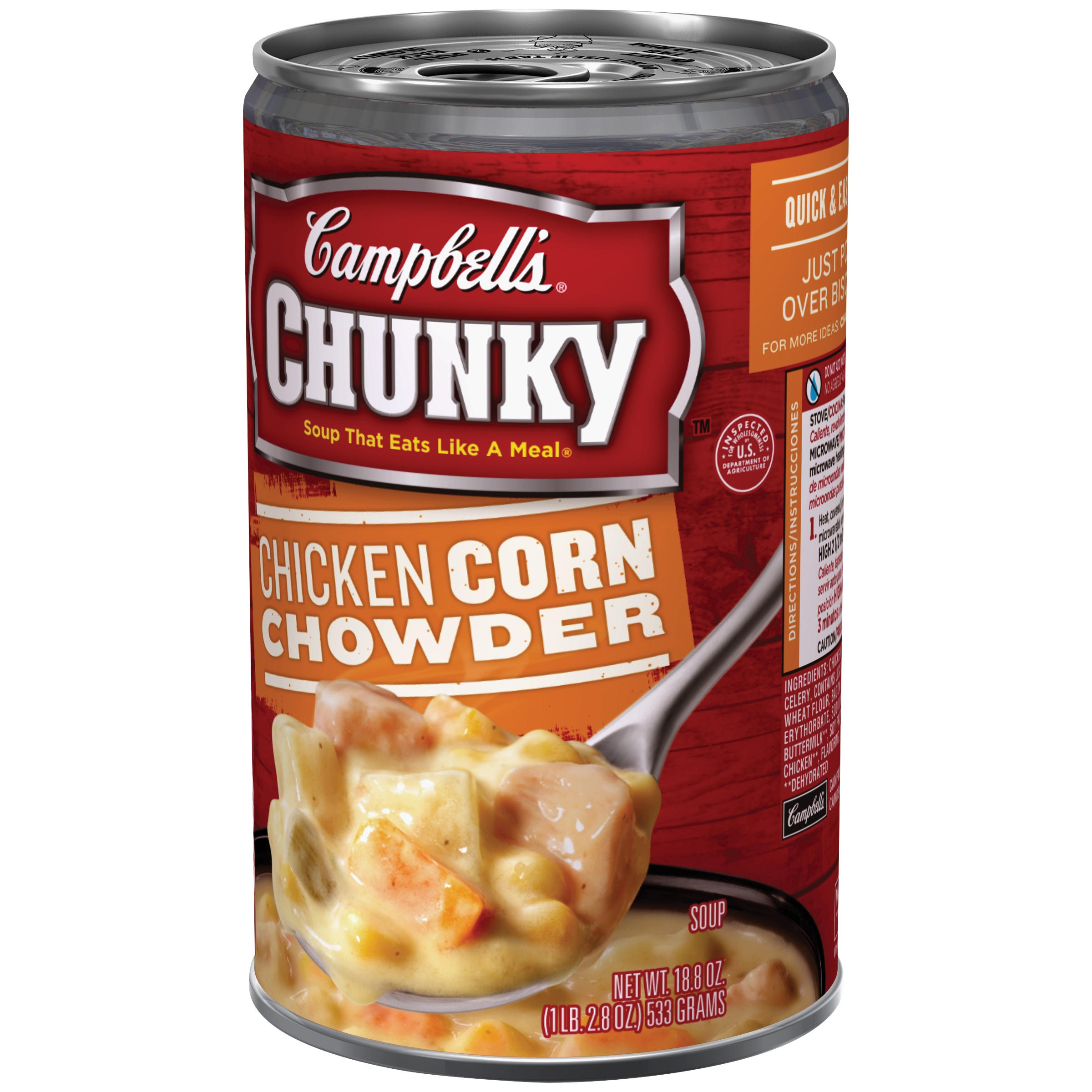 Campbell's® Chunky™ Chicken Corn Chowder Soup, 18.8 oz.