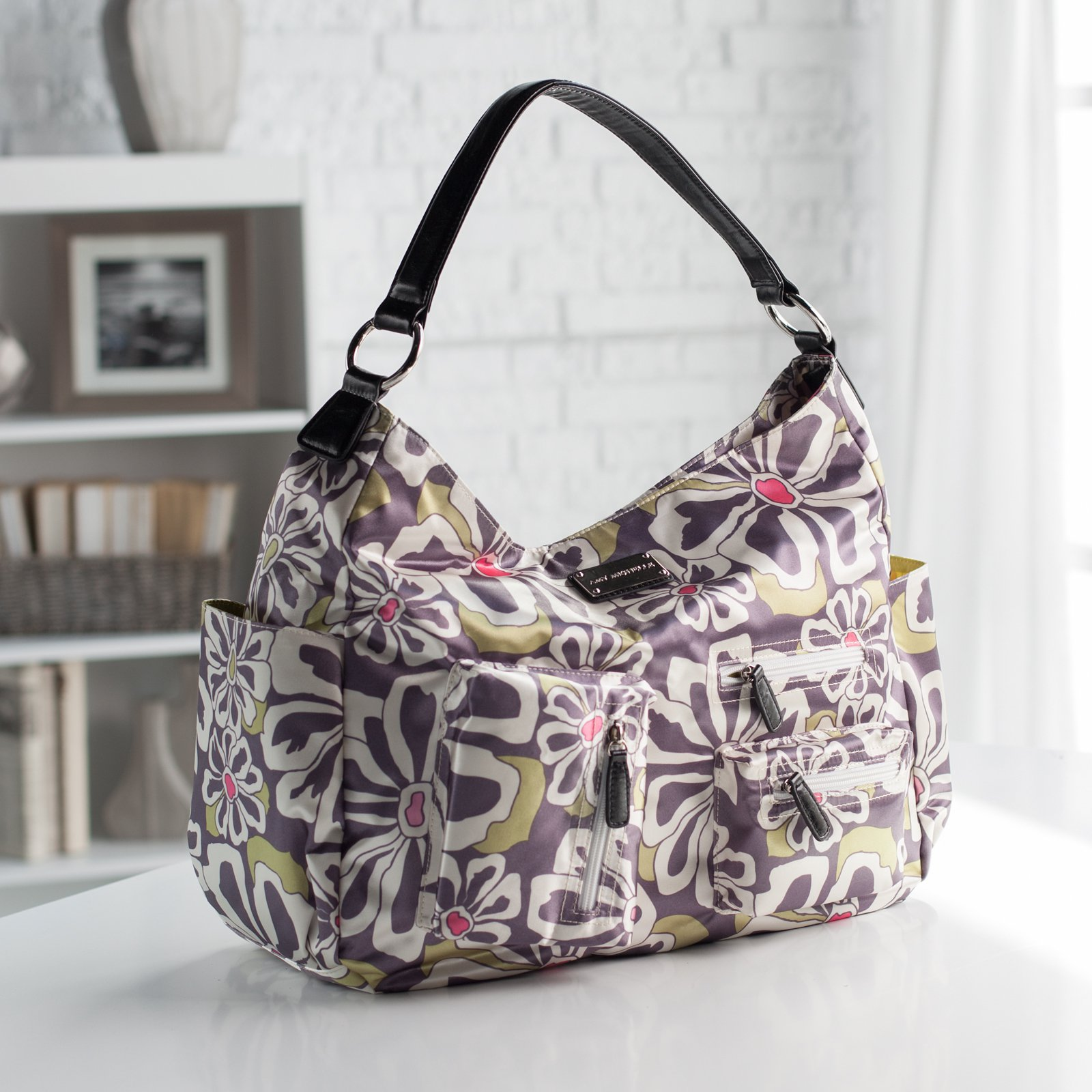 Amy Michelle Lotus Go Work Tote - Charcoal Floral