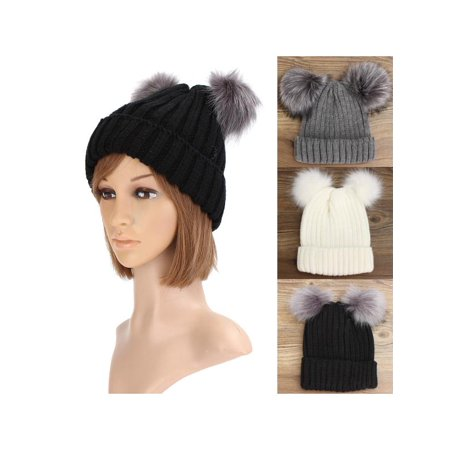Meigar - Meigar Winter Women s Warm Chunky Knit Cute Beanie Hats -  Walmart.com 4d4b44f424d