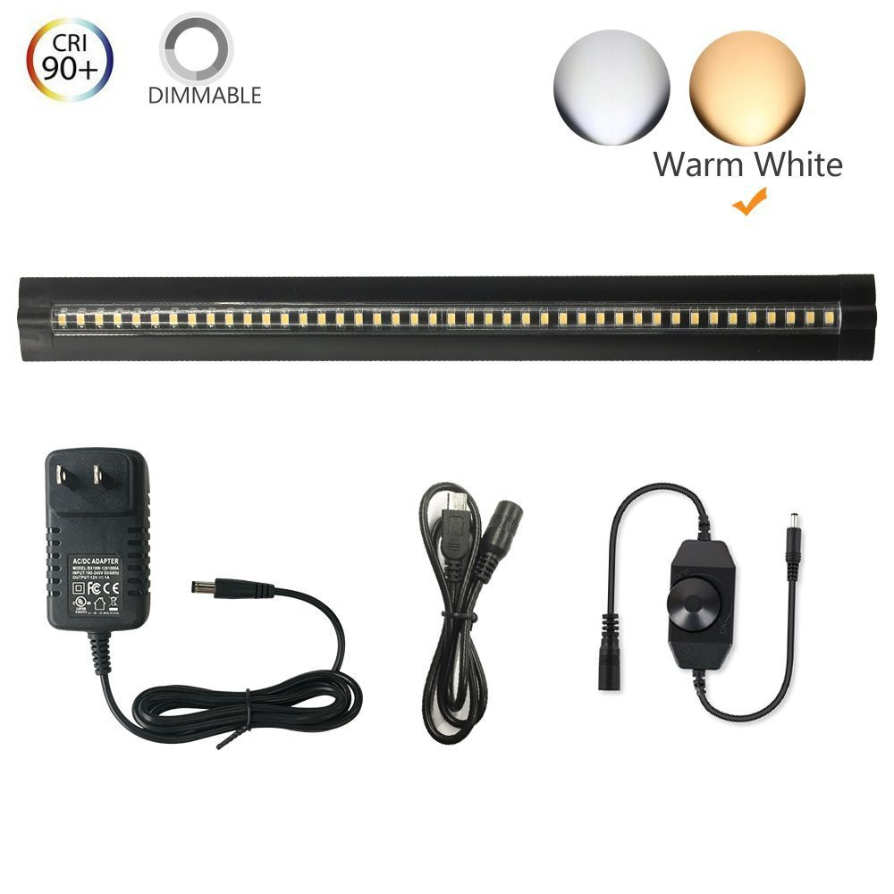 Under Cabinet Lighting   Ultra Thin, 2 Coin Thickness LED Light Plug In,  Full Range Dimmable With ...