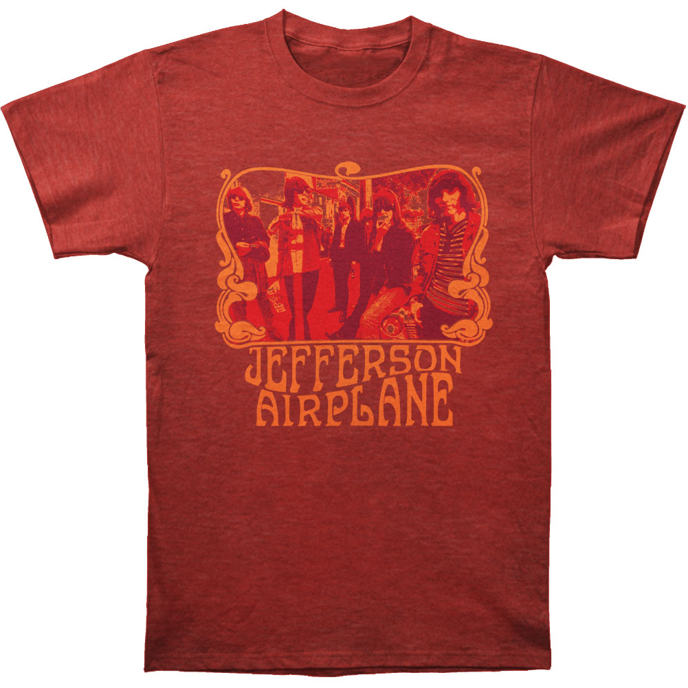 Jefferson Airplane Men's  Group Slim Fit T-shirt Heather