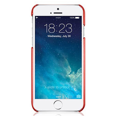 """Macally Metallic Snap-on Case for Apple iPhone 6 4.7"""", Metallic Red"""