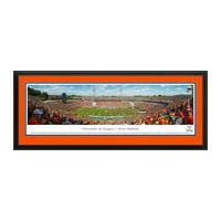 "Virginia Cavaliers 18"" x 44"" 50-Yard Line Deluxe Framed Panoramic Wall Art"