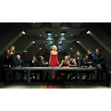 27inx40in Battlestar Galactica Poster Giclee Print Last Supper Cylon