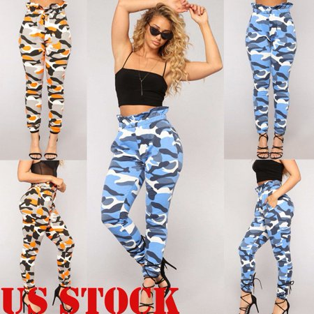 c3954b7007387 Jeans Women Camo Cargo Trousers Casual Pants Military Army Combat Camouflage