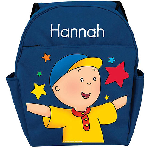 Personalized Caillou Stars Blue Backpack