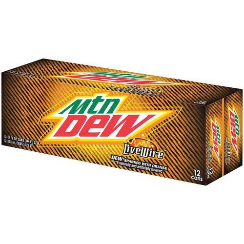 Mountain Dew Live Wire Soda, 12 fl oz, 12-Pack