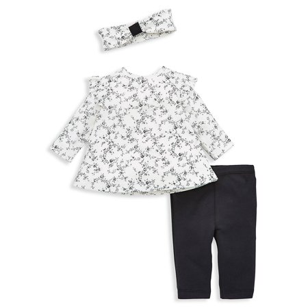 Girl Clothes Online (Baby Girl's 3-Piece Rose Headband, Tunic & Leggings)