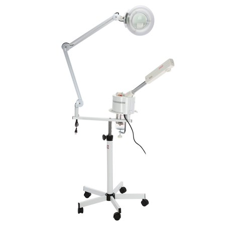 2 in 1 Facial Steamer & 5X Magnifying Lamp UV Ozone Steamer Machine Spa Salon Beauty Equipment US Plug