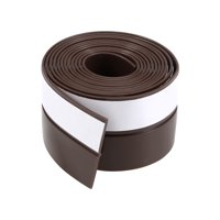 25mm Width 1M Long Self Adhesive Weather Stripping Frameless Door Bottom Seal for Doors and Window (Brown)