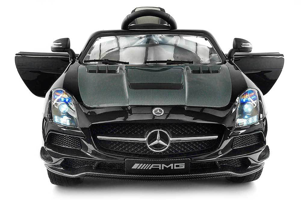 Click here to buy 2018 Mercedes SLS AMG 12V Battery Powered Motorized Ride on Toy Car with Built in LCD TV, LED Lights, Leather....