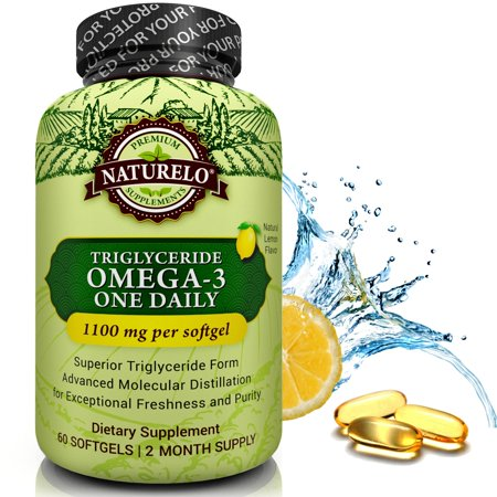 Premium Omega 3 Fish Oil   1100 Mg Triglyceride Omega 3 Fatty Acids Per Capsule   60 Softgels   2 Month Supply