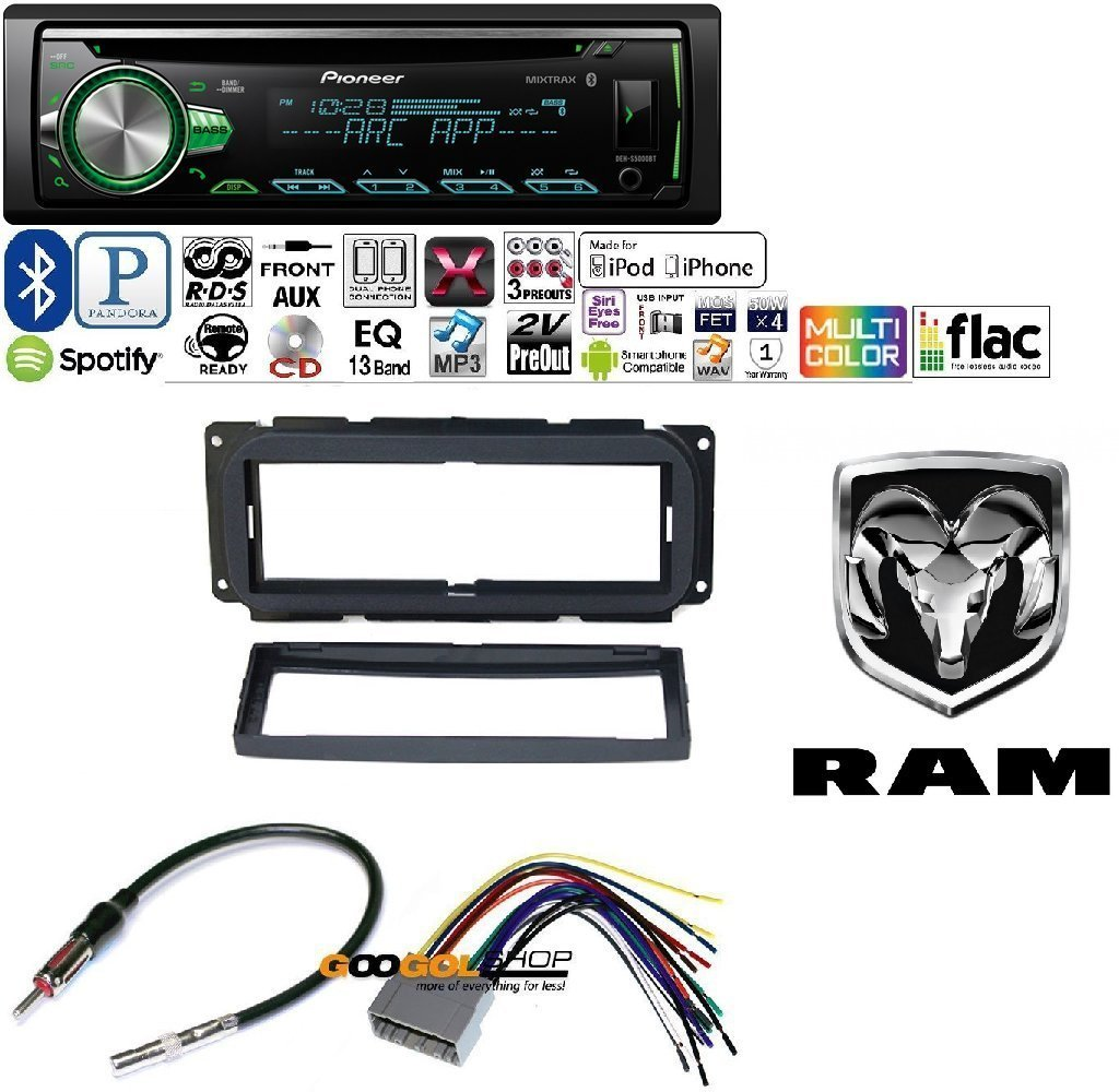 Pioneer Dodge Wiring Harness Experience Of Diagram Avh X2700bs Color 1din Deh S5000bt Car Mp3 Cd Stereo W Usb Aux In Bluetooth Rh Walmart Com 16