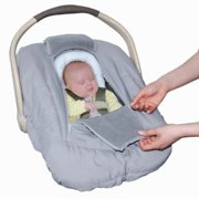 Jolly Jumper Arctic Sneak A Peek Infant Car Seat Cover (Grey)