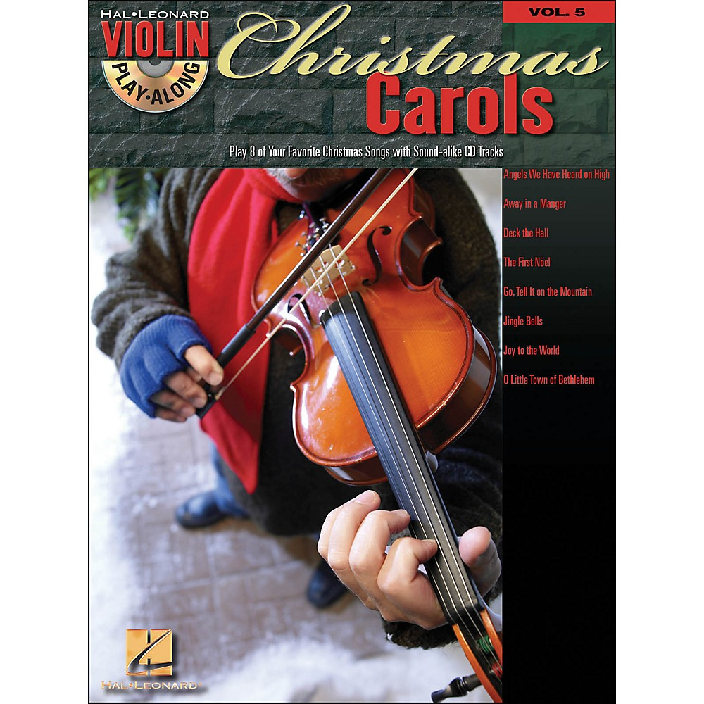 Hal Leonard Christmas Carols Violin Play-Along Volume 5 Book/CD