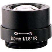 Arecont Vision - 8 mm - f/1.8 - Fixed Focal Length Lens for CS (Refurbished)
