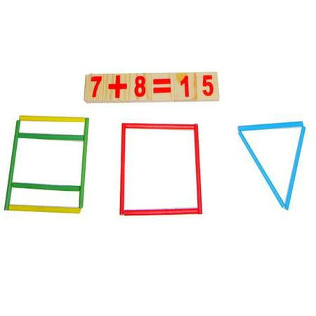 (Iuhan Wooden round digital stick combination kindergarten teaching aids)