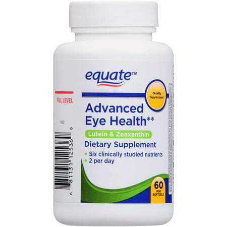 Equate Advanced Eye Health Lutein   Zeaxanthin Dietary Supplement  60 Count