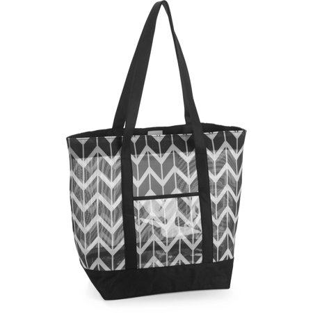 No Boundaries 21'' Women's Mesh Tote Beach Bag - Walmart.com